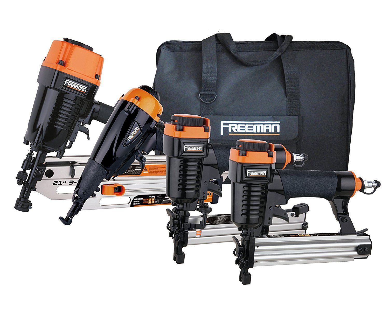 freeman p4frfncb framingfinishing combo kit with canvas bag best cordless framing nailer